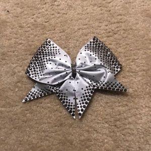 Bows of London Silver rhinestone bow